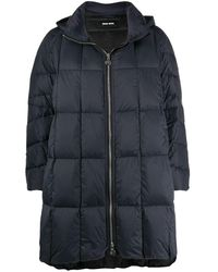 Ienki Ienki Pyramie Quilted A-line Coat - Black