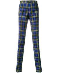 Burberry - Soho Fit Tartan Wool Tailored Trousers - Lyst