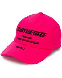 Juun.J Synthesize Patch Baseball Cap - Pink