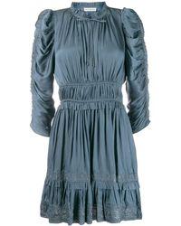 Ulla Johnson Luisa シャーリング ドレス - ブルー