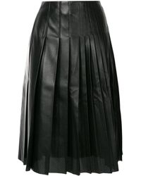 Cedric Charlier プリーツ スカート - ブラック