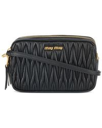 1b096733d761 Miu Miu - Small Quilted Pouch With Strap - Lyst