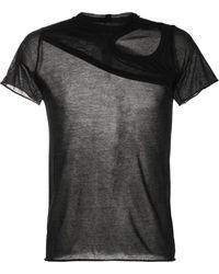 Rick Owens ウーブン Tシャツ - ブラック