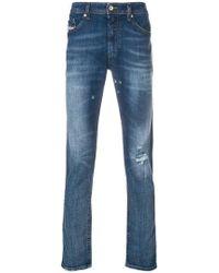 DIESEL - Schmale Distressed-Jeans - Lyst