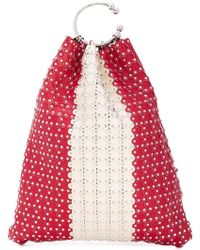 RED Valentino - Red(v) Studded Bucket Tote - Lyst