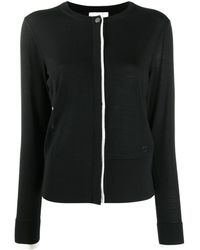 Ferragamo Пальто С Потайной Застежкой - Черный