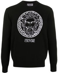 Versace Jeans Couture Knitted Zeus Sweater - Blue