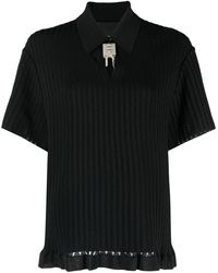 Givenchy 4g ニット ポロシャツ - ブラック