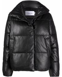 Calvin Klein ハイネック パデッドジャケット - ブラック