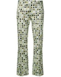 MeMe London - Slim-fit Printed Trousers - Lyst