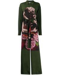 Valentino プリント ジャンプスーツ - グリーン