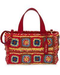 Miu Miu Crochet Handbag - Red
