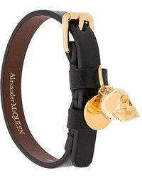 Alexander McQueen Skull bracelet - Noir
