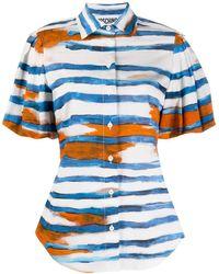 Moschino - Striped Short-sleeve Shirt - Lyst