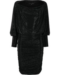 Philipp Plein Платье Мини С Кристаллами - Черный