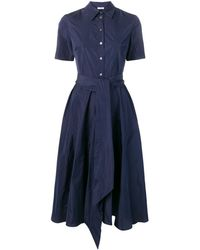 P.A.R.O.S.H. Patricy Flared Shirt Dress - Blauw