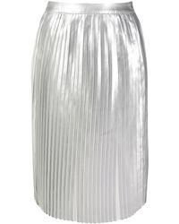 Calvin Klein メタリック プリーツスカート - マルチカラー