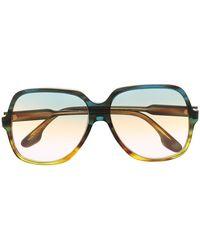 Victoria Beckham Солнцезащитные Очки В Массивной Оправе - Зеленый