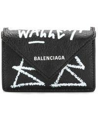 Balenciaga ペーパー ミニウォレット - ブラック