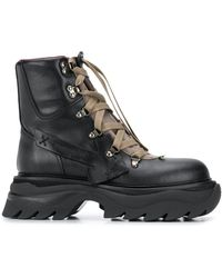 Off-White c/o Virgil Abloh Arrow-patch Hiking Boots - Black