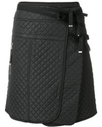 Diesel Black Gold - Quilted A-line Skirt - Lyst