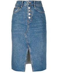 Liu Jo Denim Pencil Skirt - Blue