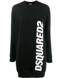 DSquared² Logo Print Jumper Dress - Black