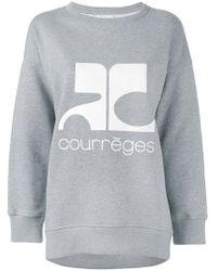 Courreges | Logo Print Sweatshirt | Lyst
