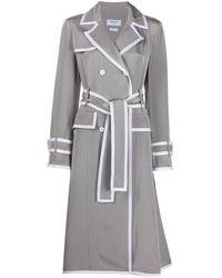 Thom Browne Silk Trench Coat - Grey