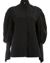 Aganovich Рубашка С Пышными Рукавами - Черный