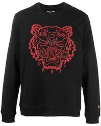 KENZO Logo-embroidered Crew-neck Sweatshirt - Multicolor