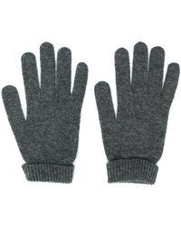Lamberto Losani Трикотажные Перчатки В Рубчик - Серый