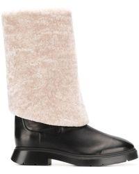 Stuart Weitzman Luiza Turn Over Boots - Black