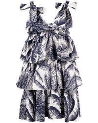 P.A.R.O.S.H. Платье С Принтом - Синий