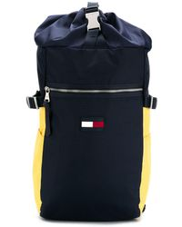 Tommy Hilfiger Nautical Ripstop Drawstring Backpack - Blue