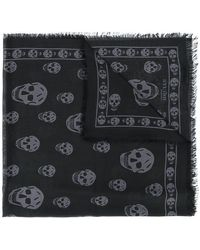 Alexander McQueen - Classic Skull Embroidered Scarf - Lyst