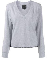 L'Agence Helena Vネック スウェットシャツ - グレー