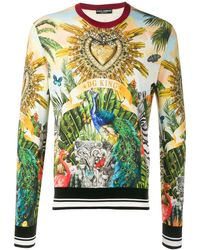 Dolce & Gabbana 'DG King' Pullover - Mehrfarbig