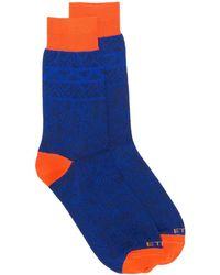 Etro ペイズリー 靴下 - ブルー
