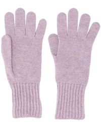 Pringle of Scotland - Ribbed Cuff Gloves - Lyst