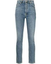 Goldsign Farrel High-waisted Jeans - Blue