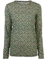 Proenza Schouler - Woven Dot Long Sleeve T-shirt - Lyst