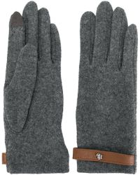 Lauren by Ralph Lauren - Strap Detail Gloves - Lyst