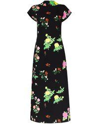 BERNADETTE Valentine プリント ドレス - ブラック