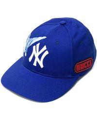 Gucci Patch Details Hat - Blauw