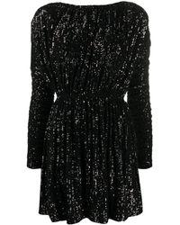 Saint Laurent スパンコール ドレス - ブラック