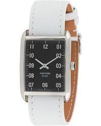 Tom Ford Watches Rechthoekig Horloge - Wit