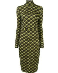 PROENZA SCHOULER WHITE LABEL Plaid Mid-length Dress - Green