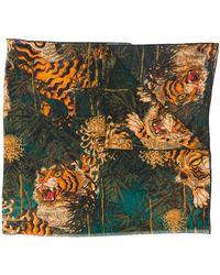DSquared² タイガー スカーフ - グリーン