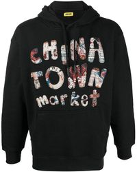 Chinatown Market ドローストリング パーカー - ブラック